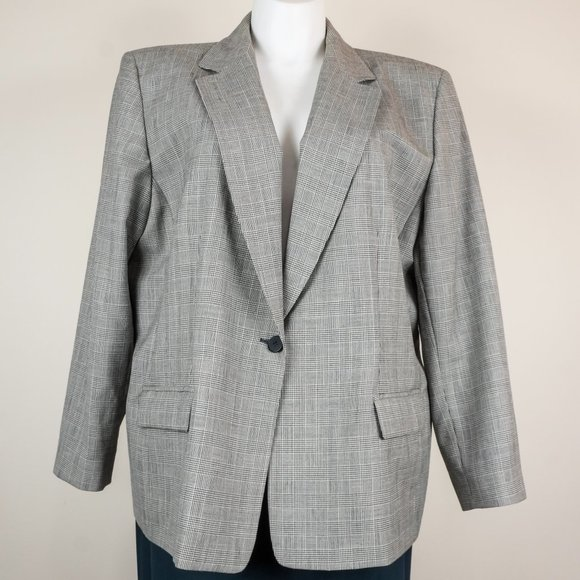 Pendleton Jackets & Blazers - 3/$20 Pendleton Blazer Virgin Wool Glen Check Gray